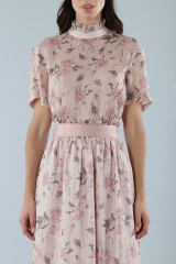 Drexcode - Top with sleeves and midi skirt  - Mother of Pearl - Sale - 4