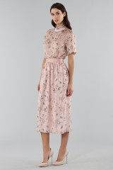 Drexcode - Top with sleeves and midi skirt  - Mother of Pearl - Sale - 5