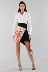 Drexcode - Asymmetric skirt with print - Fausto Puglisi - Sale - 8
