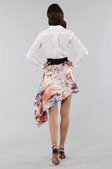 Drexcode - Asymmetric skirt with print - Fausto Puglisi - Sale - 2