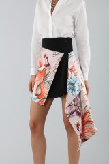 Drexcode - Asymmetric skirt with print - Fausto Puglisi - Rent - 2