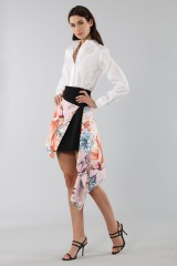 Drexcode - Asymmetric skirt with print - Fausto Puglisi - Rent - 4