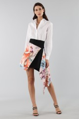 Drexcode - Asymmetric skirt with print - Fausto Puglisi - Rent - 5