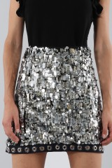Drexcode - Sequins and rhinestones skirt - Aquilano Rimondi - Sale - 3