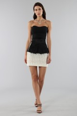 Drexcode - Embroidered skirt with volant - Emanuel Ungaro - Sale - 3