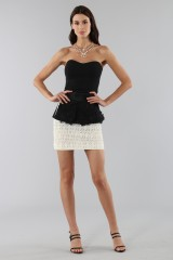 Drexcode - Embroidered skirt with volant - Emanuel Ungaro - Sale - 5