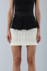 Drexcode - Embroidered skirt with volant - Emanuel Ungaro - Sale - 4