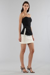 Drexcode - Embroidered skirt with volant - Emanuel Ungaro - Sale - 6