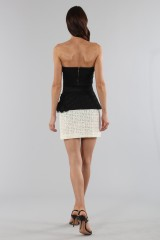 Drexcode - Embroidered skirt with volant - Emanuel Ungaro - Sale - 7