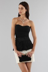 Drexcode - Embroidered skirt with volant - Emanuel Ungaro - Sale - 1