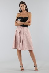 Drexcode - Pink skirt with pirnts.  - Antonio Marras - Sale - 1