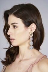 Drexcode - Earrings in silver sequins  - Shourouk - Rent - 2
