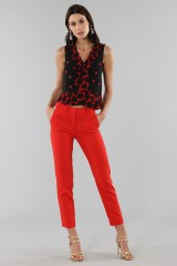Drexcode - Short polka dot top - Proenza Schouler - Rent - 3