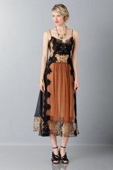 Drexcode - Lace and silk dress - Alberta Ferretti - Rent - 4