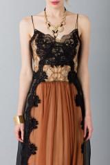 Drexcode - Lace and silk dress - Alberta Ferretti - Sale - 3