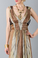 Drexcode - Ethinc floor-length dress - Alberta Ferretti - Sale - 7