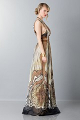 Drexcode - Ethinc floor-length dress - Alberta Ferretti - Sale - 6