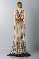 Drexcode - Ethinc floor-length dress - Alberta Ferretti - Sale - 2