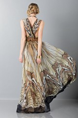 Drexcode - Ethinc floor-length dress - Alberta Ferretti - Sale - 5