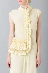 Drexcode -  Yellow tunic with ruches - Albino - Rent - 6