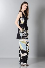 Drexcode - Silk patterned trousers and top - Antonio Berardi - Rent - 4