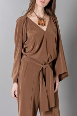 Drexcode - Long sleeve brown jumpsuit - Albino - Rent - 5
