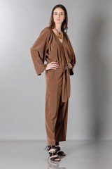Drexcode - Long sleeve brown jumpsuit - Albino - Rent - 3