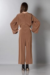 Drexcode - Long sleeve brown jumpsuit - Albino - Rent - 4