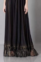 Drexcode - Long black dress with V-neck - Alberta Ferretti - Sale - 7