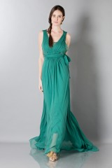 Drexcode - Empire waist silk dress - Alberta Ferretti - Sale - 1