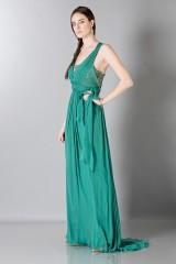 Drexcode - Empire waist silk dress - Alberta Ferretti - Sale - 6