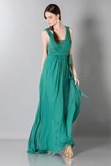 Drexcode - Empire waist silk dress - Alberta Ferretti - Sale - 5