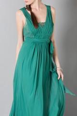 Drexcode - Empire waist silk dress - Alberta Ferretti - Sale - 7