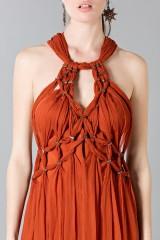 Drexcode - Crepon silk dress - Alberta Ferretti - Rent - 6