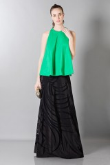 Drexcode - Floor-length silk skirt with pattern in contrast - Vionnet - Rent - 1