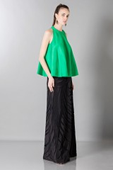 Drexcode - Floor-length silk skirt with pattern in contrast - Vionnet - Rent - 4
