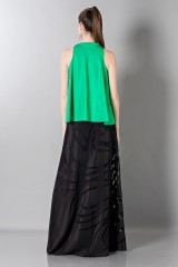 Drexcode - Floor-length silk skirt with pattern in contrast - Vionnet - Rent - 2
