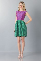 Drexcode -  Floreal patterned dress - Monique Lhuillier - Rent - 1