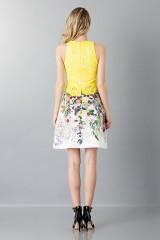 Drexcode - Lace and floreal short dress - Monique Lhuillier - Rent - 2