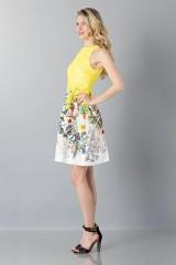 Drexcode - Lace and floreal short dress - Monique Lhuillier - Rent - 4