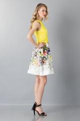 Drexcode - Lace and floreal short dress - Monique Lhuillier - Rent - 5