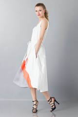 Drexcode - Dress with patterned skirt - Albino - Sale - 3