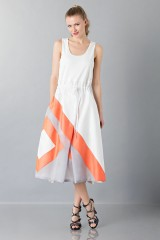 Drexcode - Dress with patterned skirt - Albino - Sale - 1