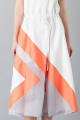Drexcode - Dress with patterned skirt - Albino - Rent - 6