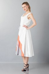 Drexcode - Dress with patterned skirt - Albino - Sale - 4