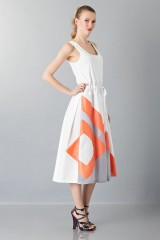 Drexcode - Dress with patterned skirt - Albino - Sale - 5