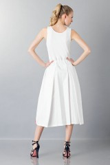 Drexcode - Dress with patterned skirt - Albino - Sale - 2