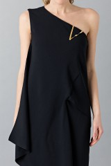 Drexcode - Floor-length one shoulder black dress - Vionnet - Rent - 7