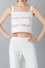 Drexcode - Cotton and lace top - Rochas - Rent - 5