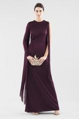 Drexcode - Fringed single-shoulder dress in burungy color  - Emilio Pucci - Rent - 2